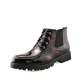 Apragaz Botines de Moda para Hombre Zapatos con Cordones Clásicos en Piel Brogue Oxford, Zapatos