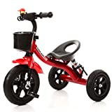 Luxury Tricycle Baby Carriage Bike Child Sport Trike Car Inflatable Wheel/Plastic Wheel Bicycle Suitable for 1-2-3-4 Year Old (Boy/Girl) ( Color : Red , Size : A-Style )