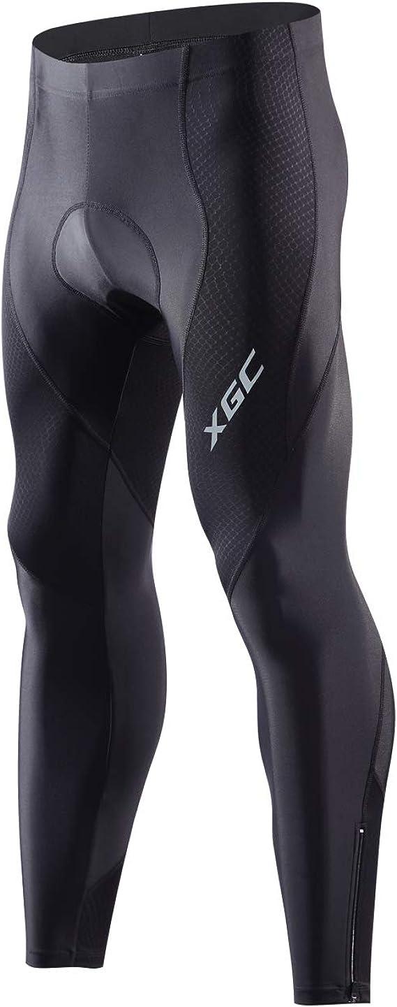 Mens Cycling Tights Winter Thermal Padded Pants Cycle Long Trouser
