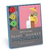 Knock Knock Cocktails Paint-by-Number Postcards Kit