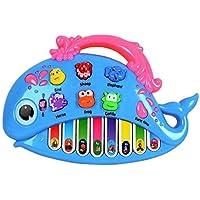 OFKPO Juguetes de Piano Instrumento Musical Eléctrico con Canciones Animal Sonido Nota de Piano Reconocimiento de Color