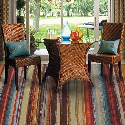 Amazon Com Mohawk Home Avenue Stripe Indoor Outdoor Nylon Rug