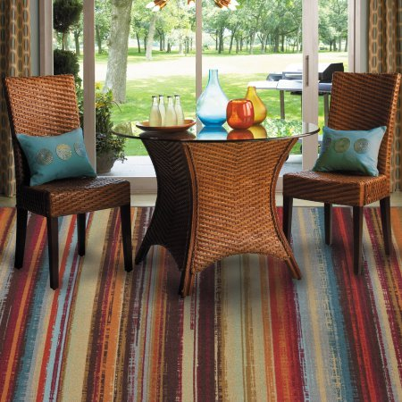 Mohawk Home Avenue Stripe Indoor/Outdoor Nylon Rug, Multi-Colored (Affordable Outdoor Rugs)