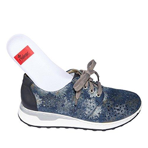 Weit Rieker Para Damen pazifik Blau Schnürer Mujer Piel Zapatos Extra De 36 Azul metallic Cordones nCOCqYrHB