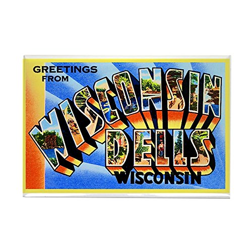 - CafePress Wisconsin Dells Greetings Rectangle Magnet, 2