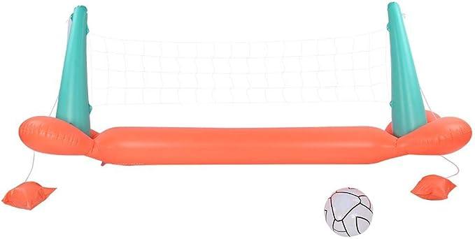 Estante de Voleibol KEENSO Entretenimiento Inflable Entrenamiento de Juego de Voleibol con Estante para Jugar en la Piscina, para Juegos de Voleibol en la Piscina