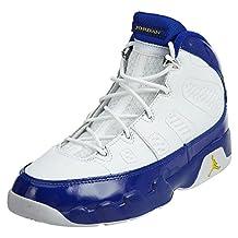 """Nike Boys Air Jordan 9 Retro BP """"Kobe Bryant"""" White/Tour Yellow-Concord Leather"""