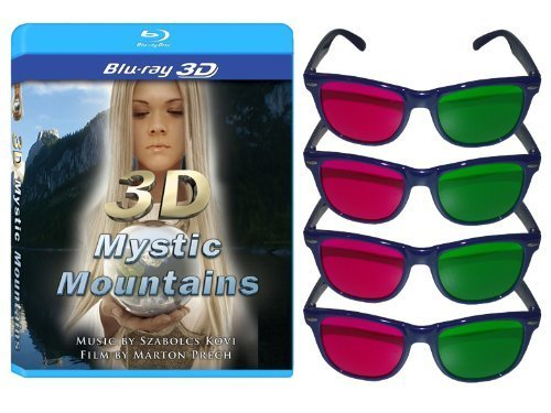 3D Mystic Mountains [Blu-ray 3D] and 4 3D Glasses - 3d Glasses Movies 3d For
