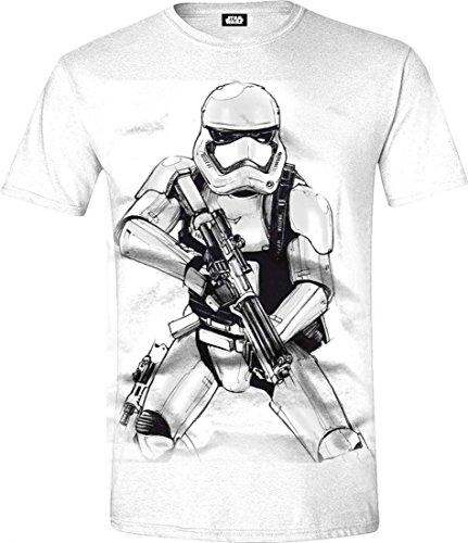 Star Wars VII Mens T-Shirt | Stormtrooper Sketch | XXL | White