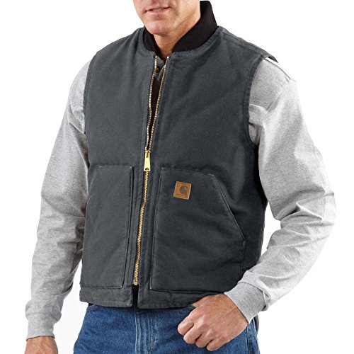 Carhartt Men's Big & Tall Sandstone Vest Arctic Quilt Lined,Shadow,Large Tall