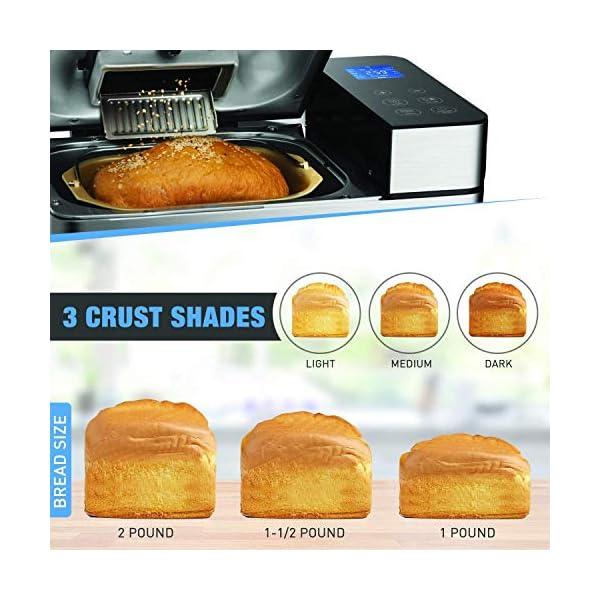 Macchina per il pane programmabile, 19 programmi da 710 W, con display retroilluminato blu e timer programmabile 15 ore… 4