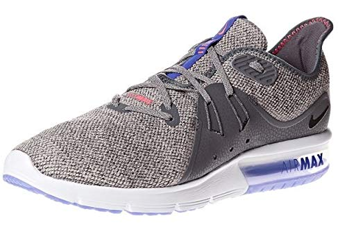 Nike Air Max Sequent 3 Mens Running Trainers 921694 Sneakers Shoes (UK 6 US 7 EU 40, Dark Grey Black 013)