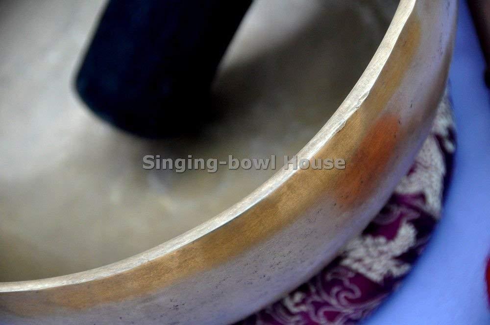5billion 8'' Amazing Solar Plexus Chakra Tibetan Singing Bowl-Handmade Singing Bowl, Singing Bowl from Nepal,Meditation Bowls by 5billion