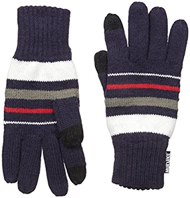 Muk Luks Men's Men Glove- Navy Stripe
