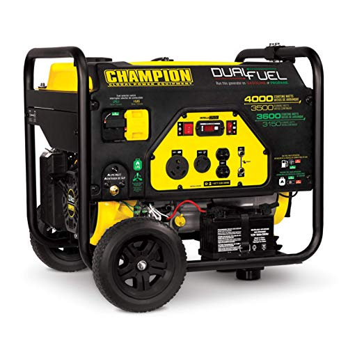 100397-3500/4000w Champion Dual Fuel Generator, Electric Start