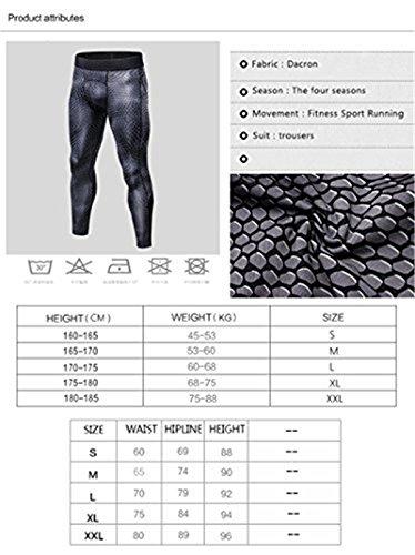 SANANG Pantalons de Compression pour Hommes Cool Dry Baselayer Sports Fitness Leggings serrés 3 Pack