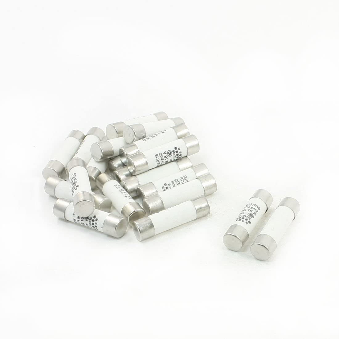 uxcell 20 Pcs 500V 10A 10x38mm Cylindrical Ceramic Tube Fuses Link R015 RT14 RT18 RT19 TRTAXCEEGF9109