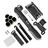 Giwil Mini Bike Pump with Repair Tool Kit - Fits Presta & Schrader Valve, High Pressure 120 PSI Bicycle Tire Pump & Multi Function Bike Repair Kit for Road and Mountain Bikes, 6.9 Inches.