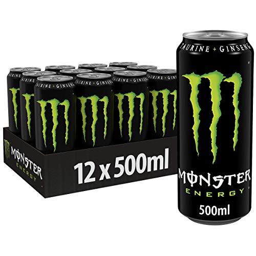 Monster Energy Regular Energiedrank, 500 ml x 12 Stuks