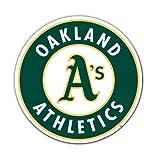 MLB Oakland Athletics 12-Inch Vinyl Logo Magnet