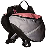Doggles Dog Extreme Backpack, Gray/Pink, Large