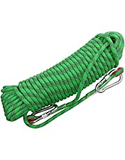 Rock Climbing Rope 20mm Nylon Rope High Strength Cord Safety Braid Rope Hiking Tree Climbing Fire Escape Rappelling Rope Fire Rescue Rope