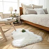Ashler Soft Faux Sheepskin Fur Rug Chair Couch