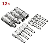New 12pcs 1/4inch Male/Female BSP Adapter Air Compressed Quick Coupling Hose