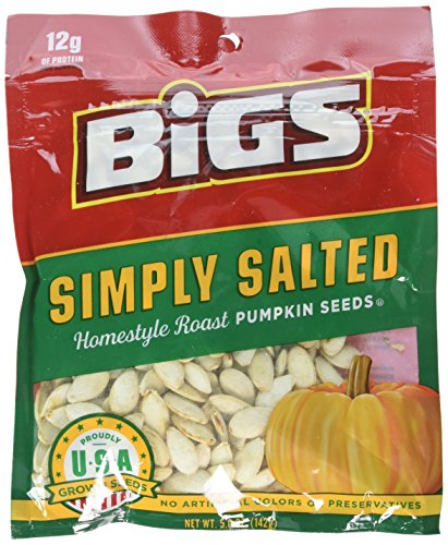 Bigs Simply Salted Pumpkin Seeds Home - style Roast , 5 Ounce - 12 per case from Thanasi