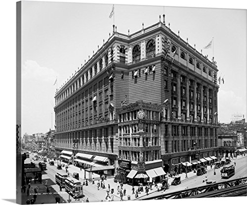 Canvas On Demand Premium Thick-Wrap Canvas Wall Art Print entitled Macys Building, Herald Square, New York City - York In New Macy's City