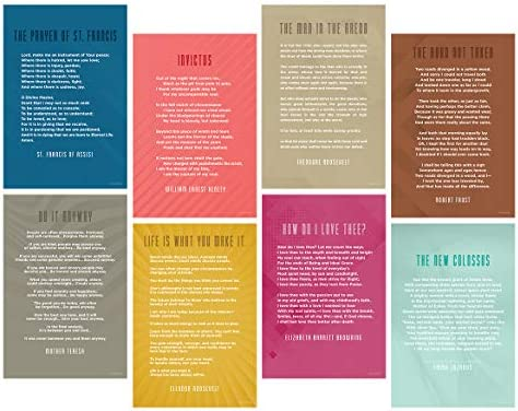 Amazoncom Eight Poem Quote Posters For Back To School