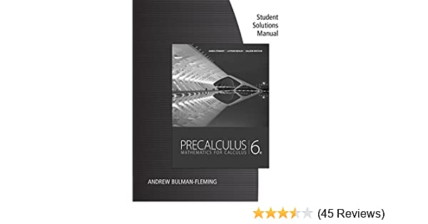 Student solutions manual for stewartredlinwatsons precalculus student solutions manual for stewartredlinwatsons precalculus mathematics for calculus 6th 6 james stewart lothar redlin saleem watson amazon fandeluxe Images