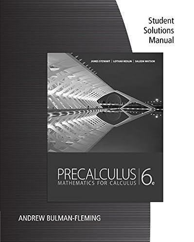 student solutions manual for stewart redlin watson s precalculus rh amazon com James Stewart Calculus Newest Edition Calculus Early Transcendentals James Stewart