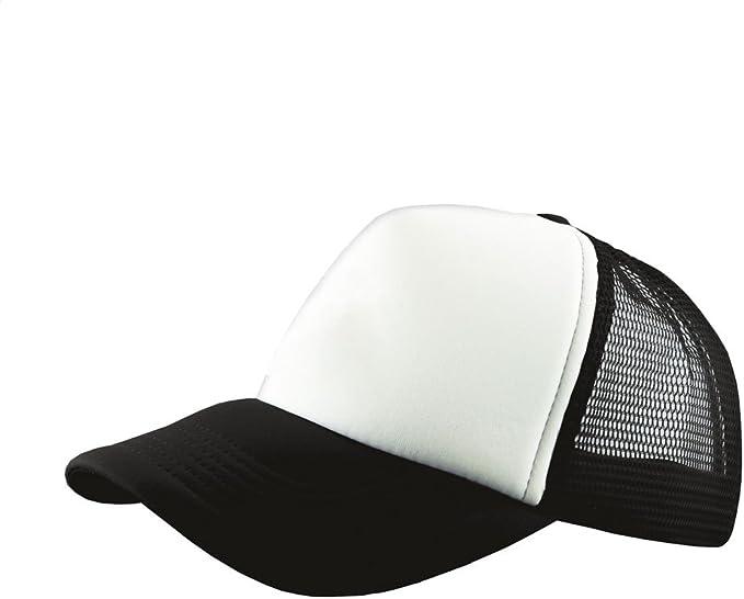 Baseball Hat Mens Beechfield Retro Snapback Adjustable Half Mesh Trucker Cap