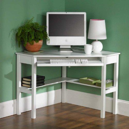 Alexander Corner Computer Desk in White (White)