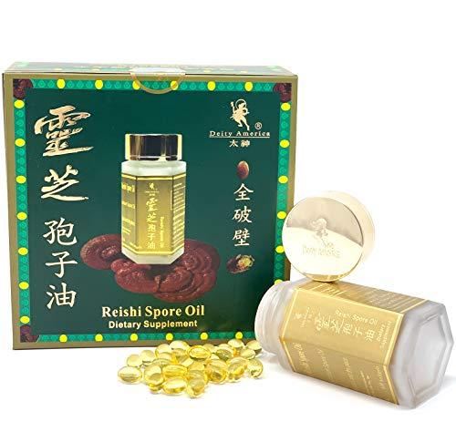Natural Reishi (Lingzhi) Spore Oil (60 SoftGel Capsules) By Deity