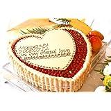 最高級洋菓子 特注ハート型 シュス 木苺 レアチーズケーキ 20cm