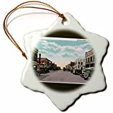 3dRose Second Laramie, Wyoming Antique Cars Lining the Street Snowflake Ornament