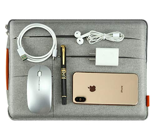 IUNION Waterproof and Multi-Pocket Laptop Sleeve Handbag Compatible 12-13.3 Inch New 2018 Release A1932, A1989 & A1706 & A1708 | MacBook Air | 12.9 Inch iPad Pro (13 Inch, Ivory White)