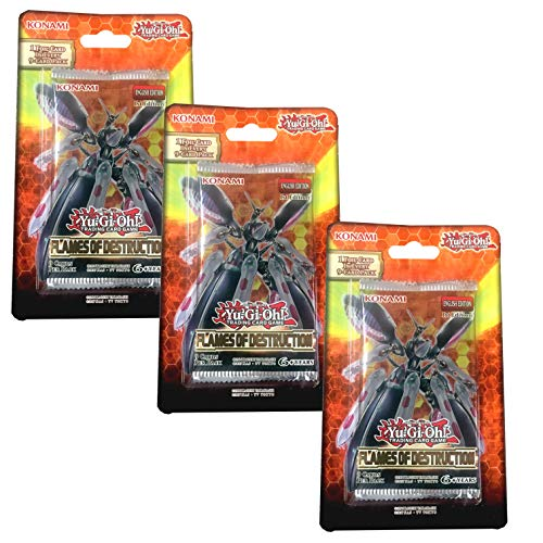 Yu-Gi-Oh! TCG: Flames of Destruction Blister 3 Pack Bundle Destruction Special Edition Pack
