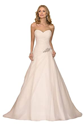 Luokadress Sweetheart Chiffon Pleated Beach Bridal Wedding Dresses ...