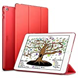 ESR iPad 9.7 2018/2017 Case, Lightweight Smart Case Trifold Stand with Auto Sleep/Wake Function, Microfiber Lining, Hard Back Cover for the Apple iPad 9.7 iPad 5th/6th Generation,Red