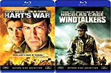 U.S. WWII war Windtalkers Blu-Ray 2 Bundle & Hart's War Double Feature Military Movie Bundle