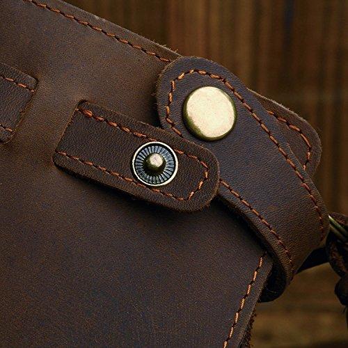 Larga Horse Cordón Billetera Hombre Personalizado Cartera Para Cuero Tejido Crazy De Con zz07U