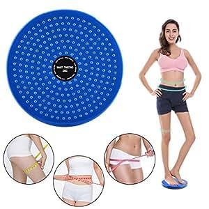 Waist Twister, Yanun Multifunction Waist Twisting Disc Body Aerobic Exercise Figure Trimmer Balance Rotating Board - Blue