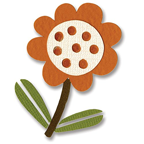 Sizzix 657225 Sizzlits Die, Flower with Leaves No.4 by Basic Grey