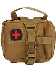 El bolso impermeable de nylon de los primeros auxilios de Molle sobrevive al bolso del almacenamiento de la medicina conveniente para el hogar, al aire libre para almacenar medicinas(Barro)
