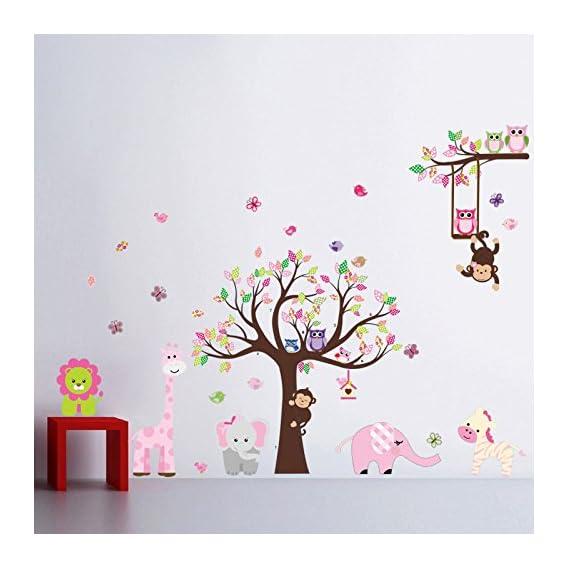 BeautifulWalls PVC animals Wall Sticker, Multicolour