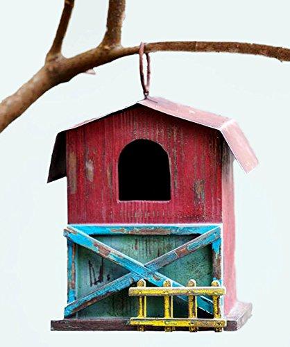 Farm Life Wood Birdhouse 7.5X5.5X8.25