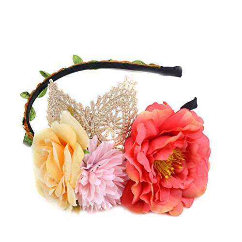 Ahugehome Cat Ears Rose Flower Headband (AC Lace cat Ear Middle (Horse Fancy Dress Ideas Halloween)